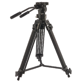 CL-TPVIDEO1 Professioneel video statief pan & tilt 138 cm zwart