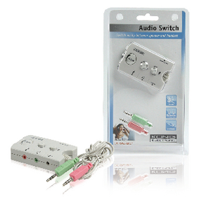 CMP-SWITCH17 Analoge Audio Schakelaar 2x 3.5 mm Male - 3x 3.5 mm Female + 2.5 mm Female Ivoor