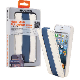 CNA-I5L01WB Tablet flip-case apple iphone 5s wit/blauw