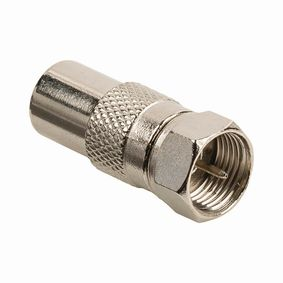 CSGB41953ME Satelliet- en Antenne-Adapter | F Female - Coax Male | Metaal