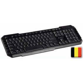 CSKBMU100BE Bedraad keyboard multimedia usb belgisch zwart