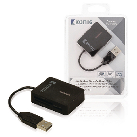 CSU2TCR100BL Kaartlezer Multi Card USB 2.0 Zwart