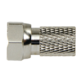 F4331114 F-Connector 2.5 mm Male Metaal Zilver/Zilver