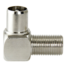 F4390302 Coax-Adapter F F-Connector Female - Coax Male (IEC) Zilver