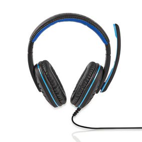 GHST100BK Gaming headset | over-ear | stereo | 2x 3.5 mm | opvouwbare microfoon | 2.20 m | normale verlichting