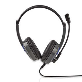 GHST200BK Gaming headset | over-ear | stereo | 2x 3.5 mm | opvouwbare microfoon | 2.20 m | normale verlichting