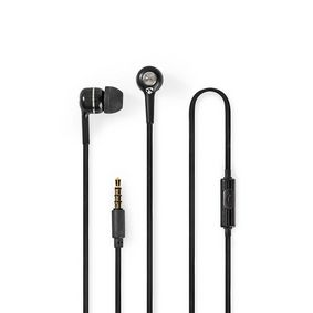 HPWD2020BK Wired headphones | 1.20 m round cable | in-ear | built-in microphone | black