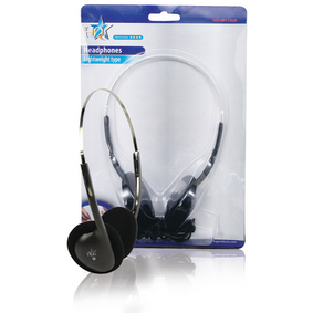 HQ-HP112LW Hoofdtelefoon On-Ear 3.5 mm Zwart