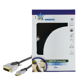 HQSS5551/10 High speed hdmi kabel hdmi-connector - dvi-d 18+1-pins male 10.0 m donkergrijs