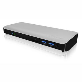 IB-DK2501-TB3 Dockingstation Thunderbolt Gigabit 12-Poorts Zilver/Zwart