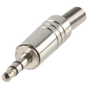 JC-037 Stereoconnector 3.5 mm Male Metaal Zilver