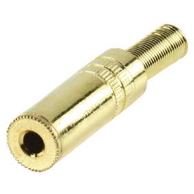 JC-131 Stereoconnector 3.5 mm Female Metaal