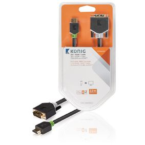KNC34800E20 High Speed HDMI Kabel HDMI-Connector - DVI-D 24+1-Pins Male 2.00 m Antraciet