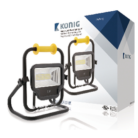 KNLEDFLST50W Mobiele LED Floodlight 50 W 4000 lm Zwart