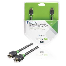 KNV34000E75 High Speed HDMI kabel met Ethernet HDMI-Connector - HDMI-Connector 7.50 m Antraciet