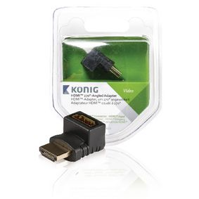 KNV34902E High Speed HDMI met Ethernet Adapter 270° Gehoekt HDMI-Connector - HDMI Female Antraciet