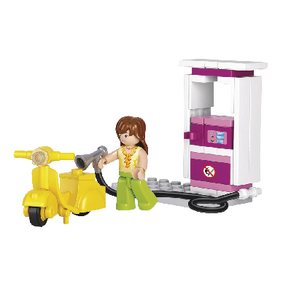 M38-B0518 Bouwstenen girls dream serie tankstation