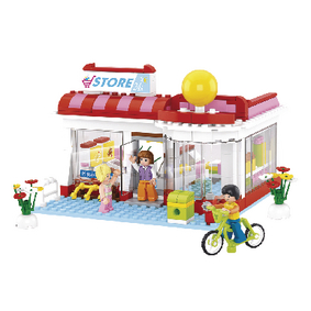 M38-B0529 Bouwstenen girls dream serie supermarkt