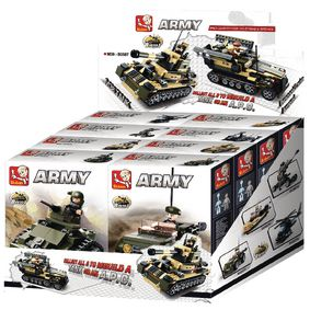 M38-B0587 Bouwstenen army serie 8-in-1-display