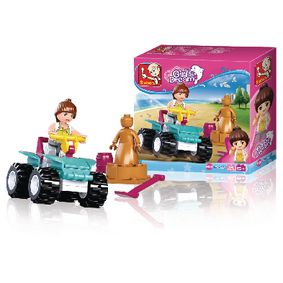 M38-B0599 Bouwstenen girl's dream