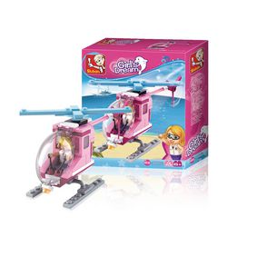 M38-B0600D Bouwstenen girls dream serie strandhelikopter