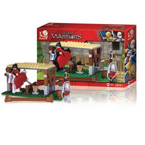 M38-B0611 Bouwstenen legend warriors serie stallen