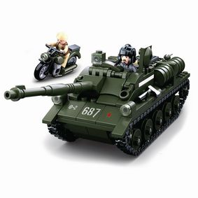 M38-B0687 Bouwstenen wwii serie su-85 allied tank destroyer