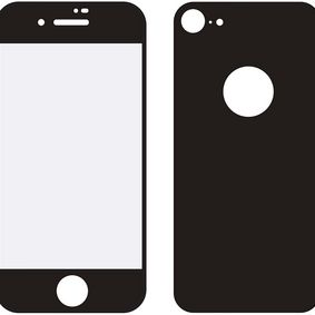 MOB-24038 Edge-to-Edge Voor- en Achterzijde van Glas Screenprotector Apple iPhone 8