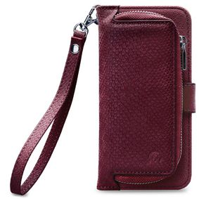 MOB-24240 Smartphone Gelly Wallet Zipper Case Samsung Galaxy A8 2018 Rood