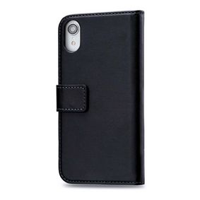 MOB-24516 Smartphone Classic Gelly Wallet Book Case Apple iPhone XR Zwart