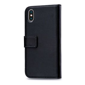 MOB-24517 Smartphone Classic Gelly Wallet Book Case Apple iPhone XS Max Zwart