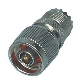 NC-304 Antenne Adapter N Male - PL259 Female Zilver