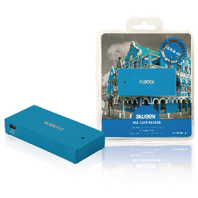 NPCR1080-07 Kaartlezer Multi Card USB 2.0 Blauw