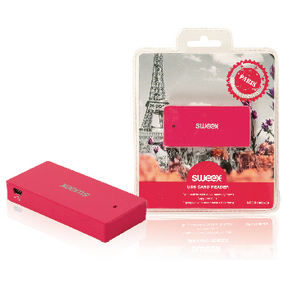 NPCR1080-09 Kaartlezer Multi Card USB 2.0 Roze