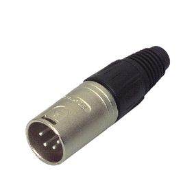 NTR-NC4MX Connector XLR Male Metaal Zilver