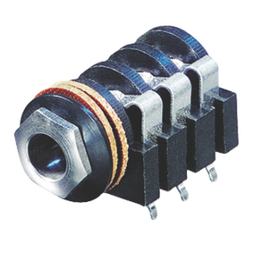 NTR-NYS215 Stereoconnector 6.35 mm Female PVC Zwart