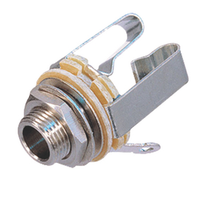NTR-NYS229 Monoconnector 6.35 mm Female Metaal Zilver