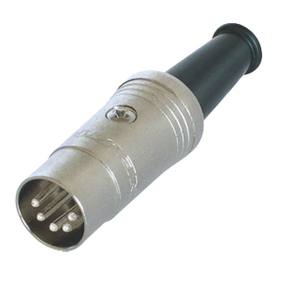 NTR-NYS322 Connector DIN Male Metaal Zilver