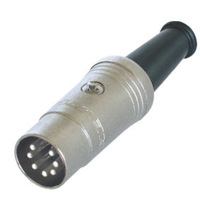 NTR-NYS323 Connector DIN Male Metaal Zilver