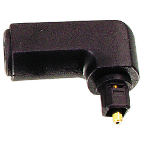 OPT-90PLUG Digitale audio adapter 90° haaks toslink male - toslink female zwart