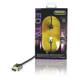 PROL1211 High Speed HDMI kabel met Ethernet HDMI-Connector - HDMI-Connector 1.00 m Zwart