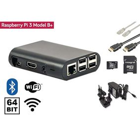 RP3PKIT1 Raspberry pi 3+ starter kit + wi-fi + bluetooth® + noobs software tool