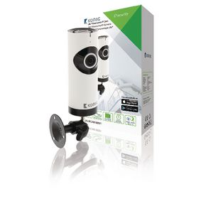 SAS-IPCAM180W1 Hd ip-camera 1280x720 panorama wit/zwart