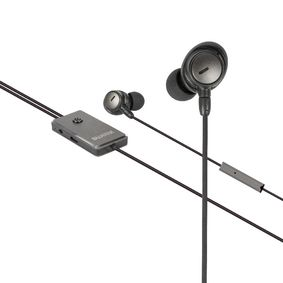 SWANCHS100GY Headset anc (active noise cancelling) in-ear 3.5 mm bedraad ingebouwde microfoon 1.2 m antraciet/zwa