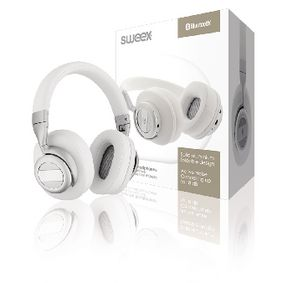 SWBTANCHS200WH Headset bluetooth / anc (active noise cancelling) over-ear ingebouwde microfoon 1.20 m wit/zilver