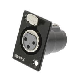 SWOP15911B Connector XLR 3-Pin Female Vernikkeld Zwart