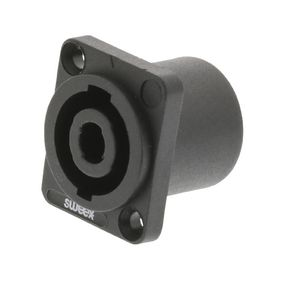 SWOP16902B Connector Speaker 4-Pin ABS Kunststof Zwart