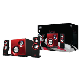 SP211 Speaker 2.1 3.5 mm 60 W Rood/Zwart