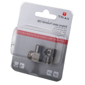 T153024 Coax-Adapter XLR F-Connector Female - F-Connector Male Aluminium