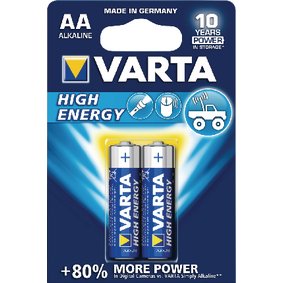 VARTA-4906/2B Alkaline Batterij AA 1.5 V High Energy 2-Blister